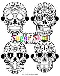 Printable Halloween Masks For Children by Halloween Printable Sugar Skull Masks See Vanessa Craft