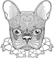 art of pug single coloring page sunflower pug how cool is this