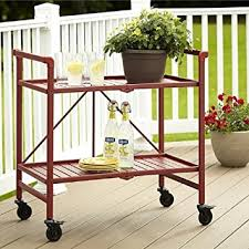 amazon com rolling serving cart wheels outdoor folding portable