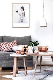 Grey And Gold Living Room Blush Copper Grey Home Decor Interior Inspiration Living