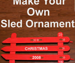 how to make a popsicle stick sled ornament for 2 6 steps