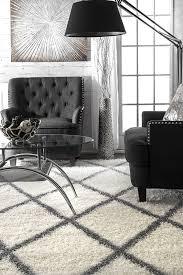 amazon com nuloom grey machine made diamond shag area rug 5 u0027 3