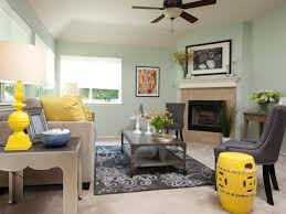 Yellow Fireplace by Living Room Vibrantly Living Room Features Mint Green Walls With