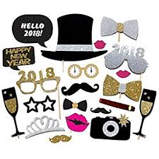 new years supplies 20pcs 2018 new year s party card masks photo booth