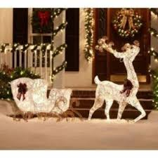 White Dog Christmas Lawn Decorations outdoor santa sleigh foter