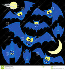 cartoon halloween background halloween seamless pattern with cute cartoon bats royalty free