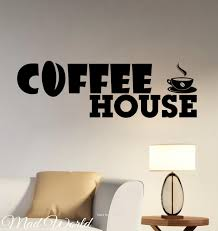 awesome coffee house wall art fotohouse net mad world coffee house coffee bar shop wall art stickers decal home diy decoration wall mural