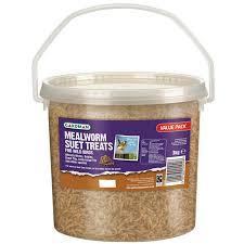 gardman mealworm suet treats tub 3kg charlies direct