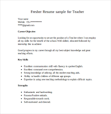 Resumes Samples For Teachers by Sample Teaching Cv Template 8 Download Free Documents In Pdf Word