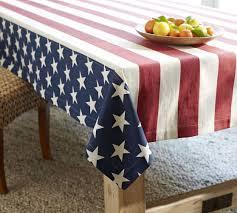 pottery barn table linens american flag tablecloth pottery barn