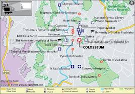 rome on a map the colosseum travel information map facts location hours