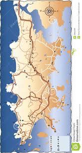Phuket Map Road Map Of Phuket Stock Image Image 28622391