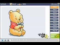draw baby winnie pooh