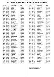printable bulls schedule chicago bulls announce 2016 17 schedule chicago bulls