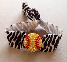 ponytail holder bracelet the zebra print softball hair tie ponytail holder bracelet 1