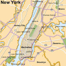 map of new city new york city and surroundings map