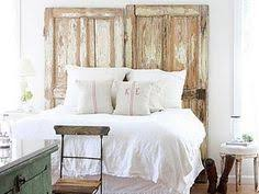 Antique Door Headboard Rustic Bedroom Ideas U2026 Union Jack Flag Hung By An Antique Pulley On