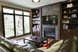 Trim Around Fireplace by Modern Bookshelves Around Fireplace Living Room Contemporary With
