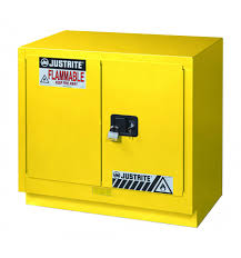 Yellow Flammable Storage Cabinet Justrite Fume Solvent Flammable Safety Cabinet 23 Gal