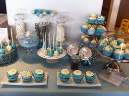 candy bar for a baby baptism all sweets in baby blue themed candy