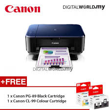 canon pixma e560 color inkjet multifunction printer black free