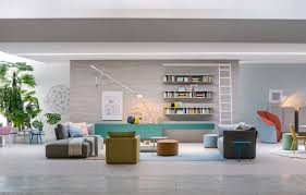 contemporary living rooms home design stylish open bookcase with artworks and modern also