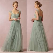 lace tulle long bridesmaid dresses with cap sleeves 2016
