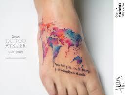 World Map Tattoo by Julia Dumps Linz Austra Tattrx Forever Changing Pinterest