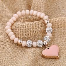 bracelet pendant images Zoshi romantic vintage bracelets for women heart pendant bracelets jpg