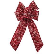 bandana bow country bows western bows wired country bandana bow 6 inch