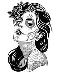 day of the dead coloring pages los muertos sugar skull day