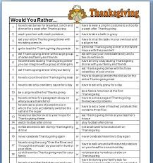 thanksgiving would you rather questions thanksgiving
