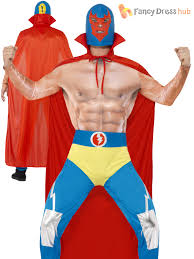 costumes for adults mens mexican wrestler costume adults sports fighter fancy dress