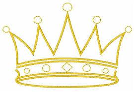king crown embroidery design annthegran