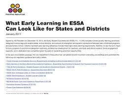 early learning in essa opportunities for states and districts