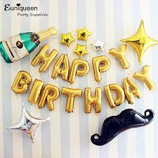 balloon decorations mylar number letter mylar golden happy birthday letter balloons kit