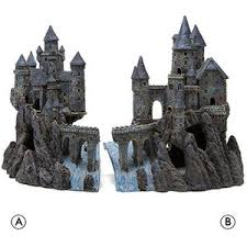 magical castle aquarium ornament décor petsmart polyvore
