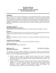 Etl Resume Sle Resume For Sql Developer 28 Images Software Engineer