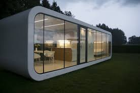 prefab micro house modular contemporary energy efficient
