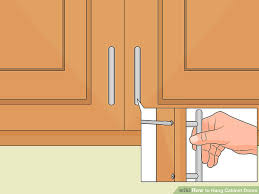 Hanging Cabinet Doors How To Hang Cabinet Doors 14 Steps With Pictures Wikihow