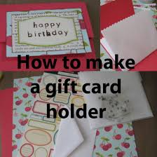 make a gift card how to make a and easy gift card holder