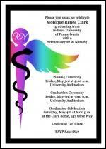 nursing graduation announcements cheap graduation announcements 99 pinning invitations