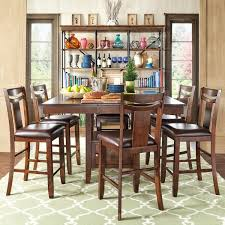 marsden rustic brown mission counter height extending dining set