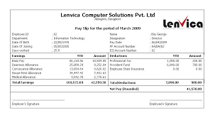 sample of payroll slip payslip format word and excel formats