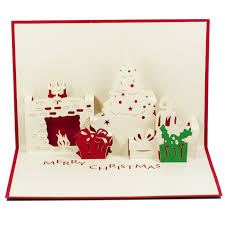 pop up christmas cards fireplace pop up card custom pop up card supplier christmas pop up