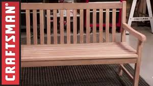 how to build a wooden porch swing craftsman youtube