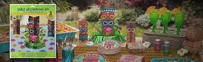luau table centerpieces amscan sun sational summer luau party tropical tiki