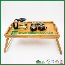 serving tray side table bamboo bed breakfast food serving tray bamboo wood breakfast food