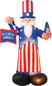 Halloween Outdoor Inflatables by Amazon Com Patriotic Inflatable 6 U0027 Uncle Sam With American Flag