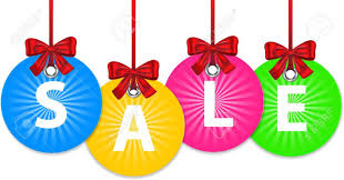 new year shopping colorful shiny christmas balls with bow and with the